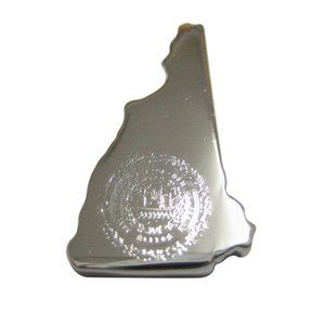New Hampshire State Map Shape and Flag Magnet